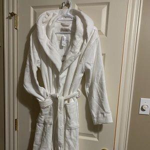 Beautiful white bathrobe